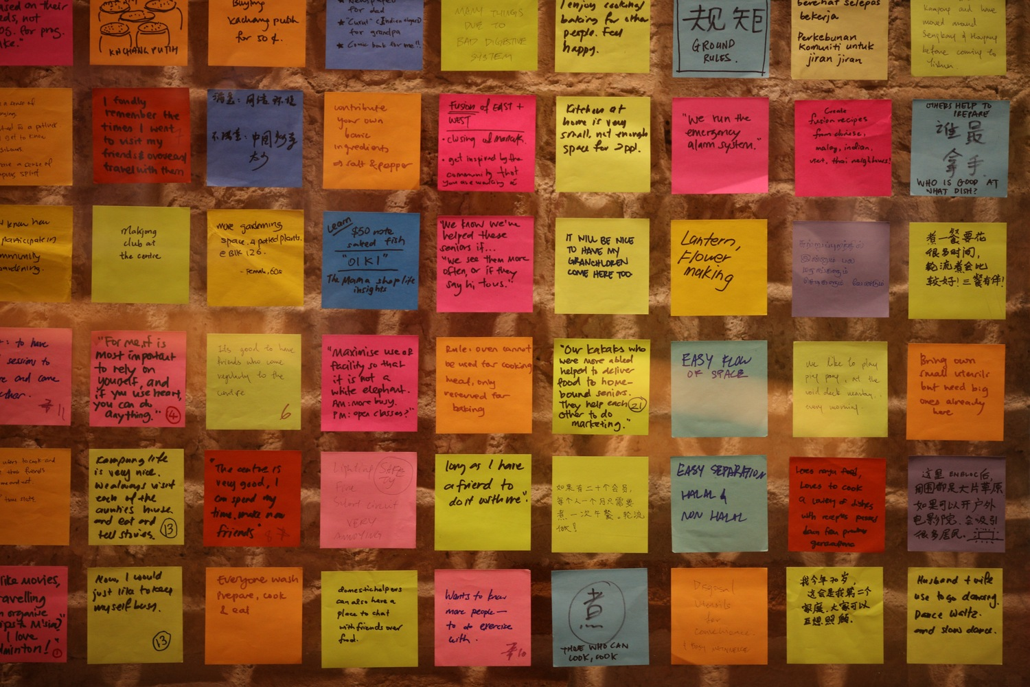 8._Close-up_of_post-it_notes_handwritten_by_participants_in_P!D's_engagement_programmes._Singapore_Pavilion_at_Biennale_Architettura_2016_Venice_Credit_Don_Wong