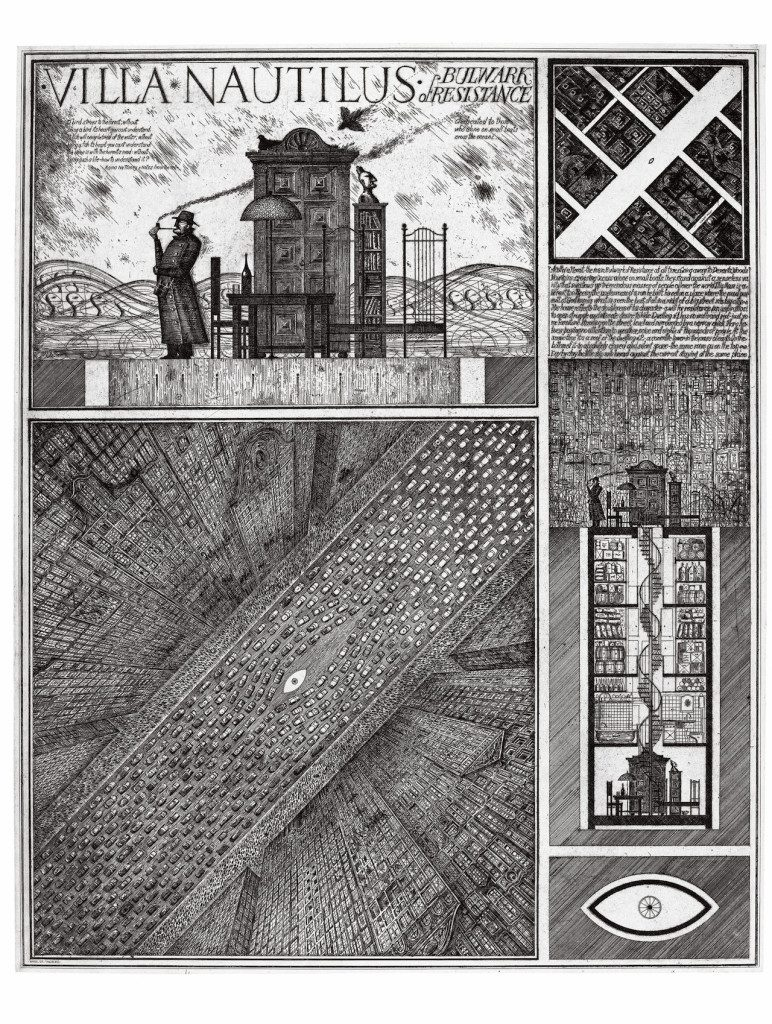 "Alexander Brodsky and Ilya Utkin, ""Villa Nautilus"" (1990) (courtesy of Ronald Feldman Fine Arts Inc)"
