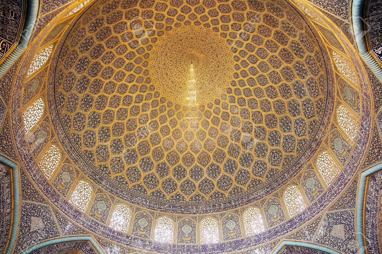 طرح گنبد خانه مسجد شیخ لطفالله