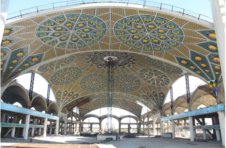 طرح سقف شبستان مصلی اصفهان