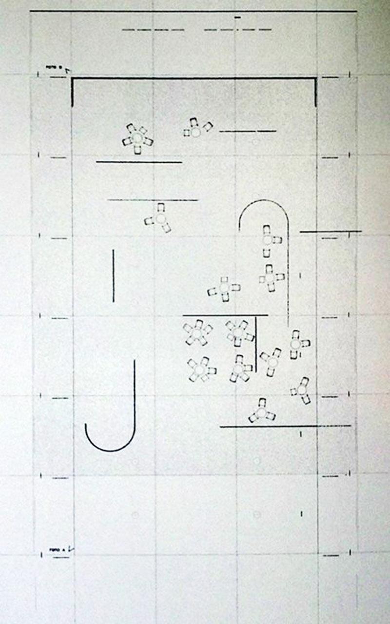 پلان کافه مخمل و ابریشم. لیلی رایش و میس ون دررو. از Socks-studio.com