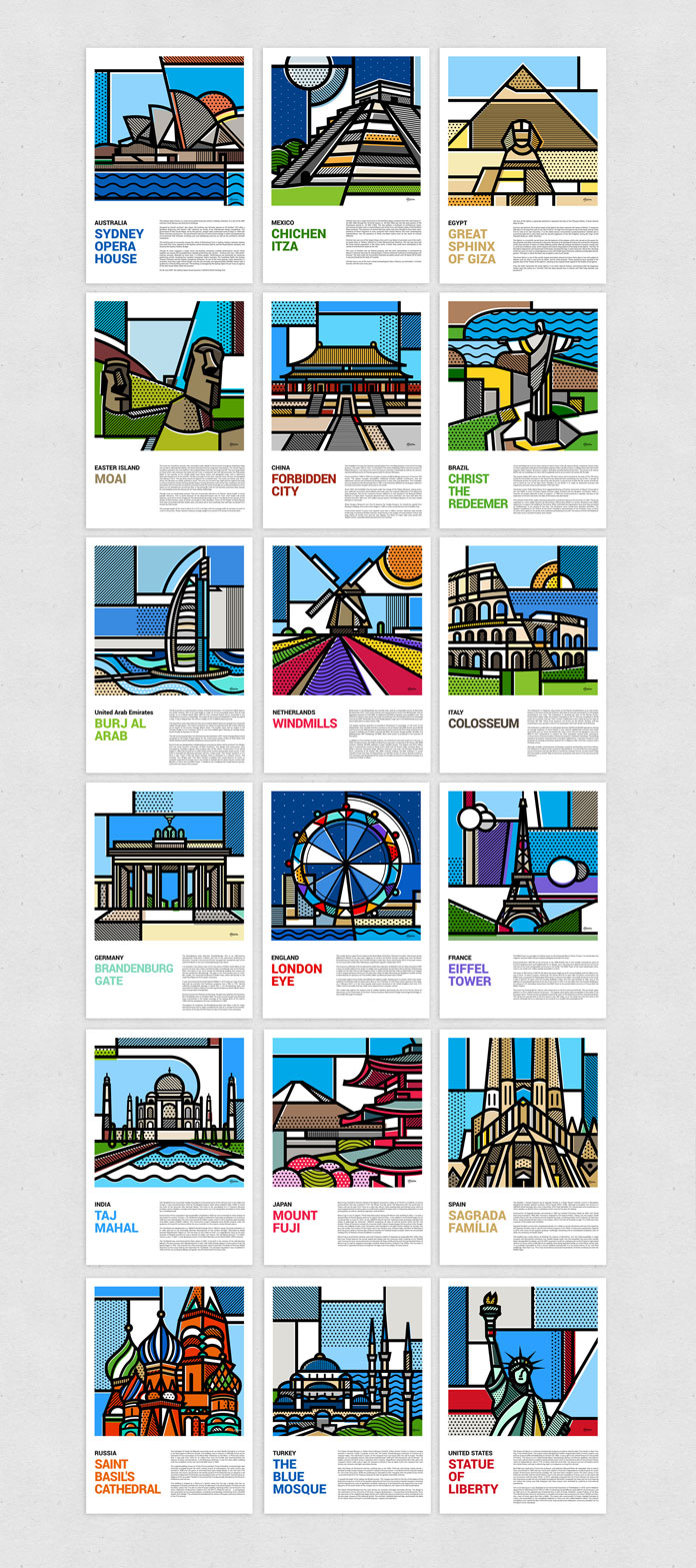 10-18-illustrations-of-landmarks-around-the-world