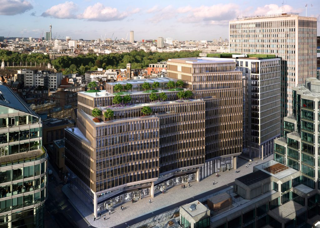 اداری: ساختمان زیگ زاگ، در لندن، بریتانیای کبیر. از Lynch Architects