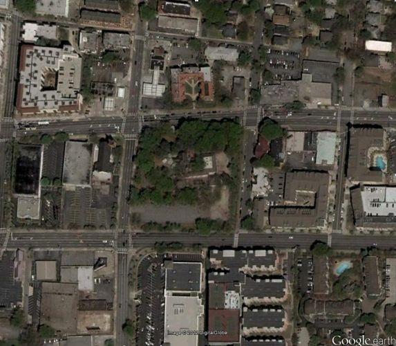 پوشش گیاهی شهر آتلانتا/ آوریل 2005