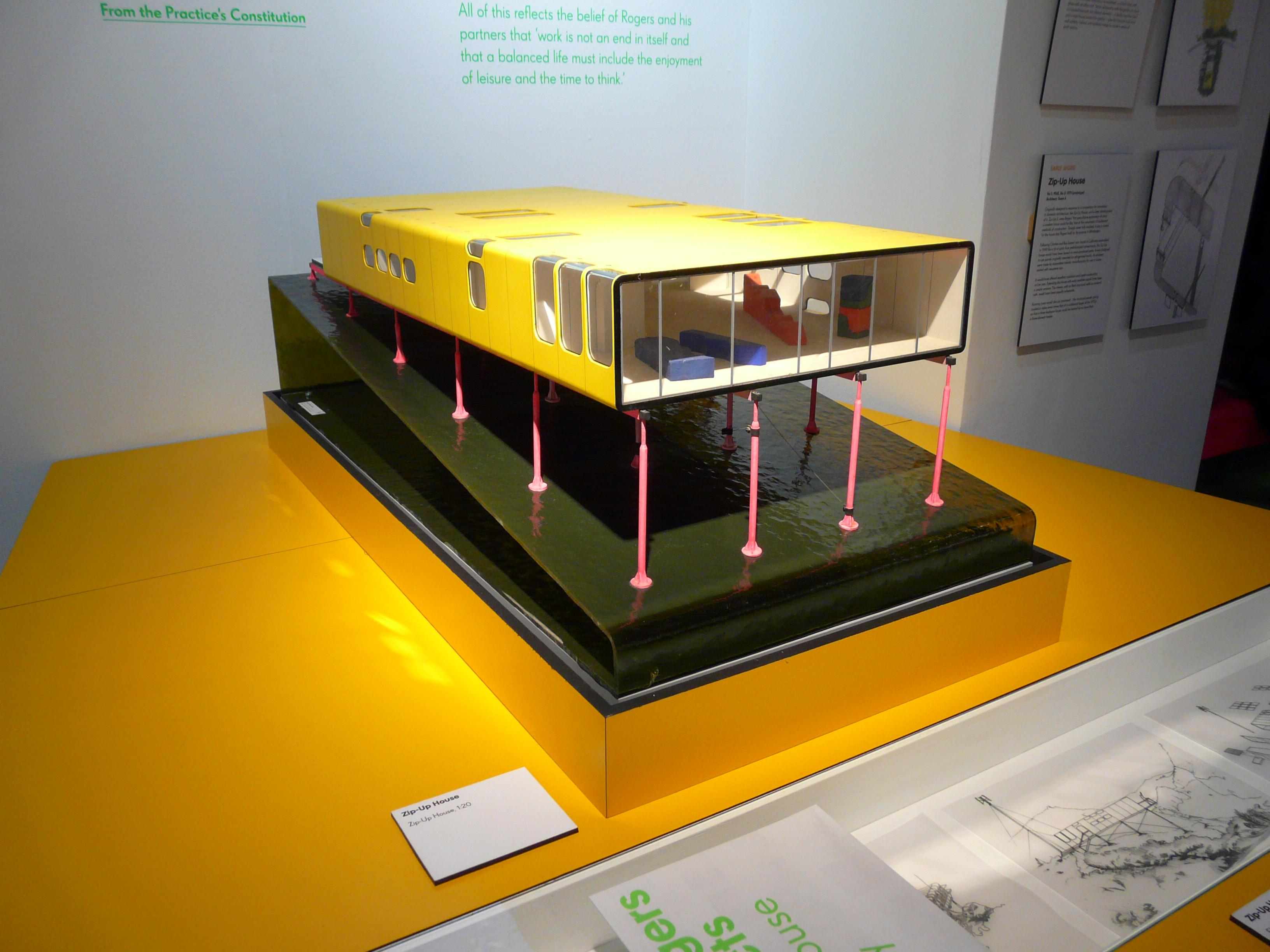 ماکت خانهی «زیپ آپ» اثر تیم فور (۱۹۶۹)