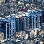 ساختمان مرکز ژرژ پمپیدو در قلب تاریخی پاریس