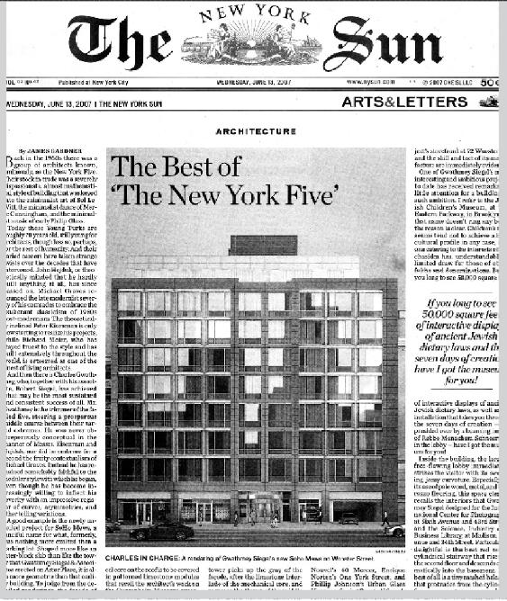 آیزنمن و دوستانش مایکل گریوز، ریچارد میر، چارلز گواتمی و جان هیداک با ایده گروه پنج نیویورک تا مدتها خود را در کانون توجهها قرار دادند.