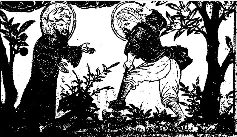 تصویری از زراعت و باغبانی در کتاب رشیدالدین.